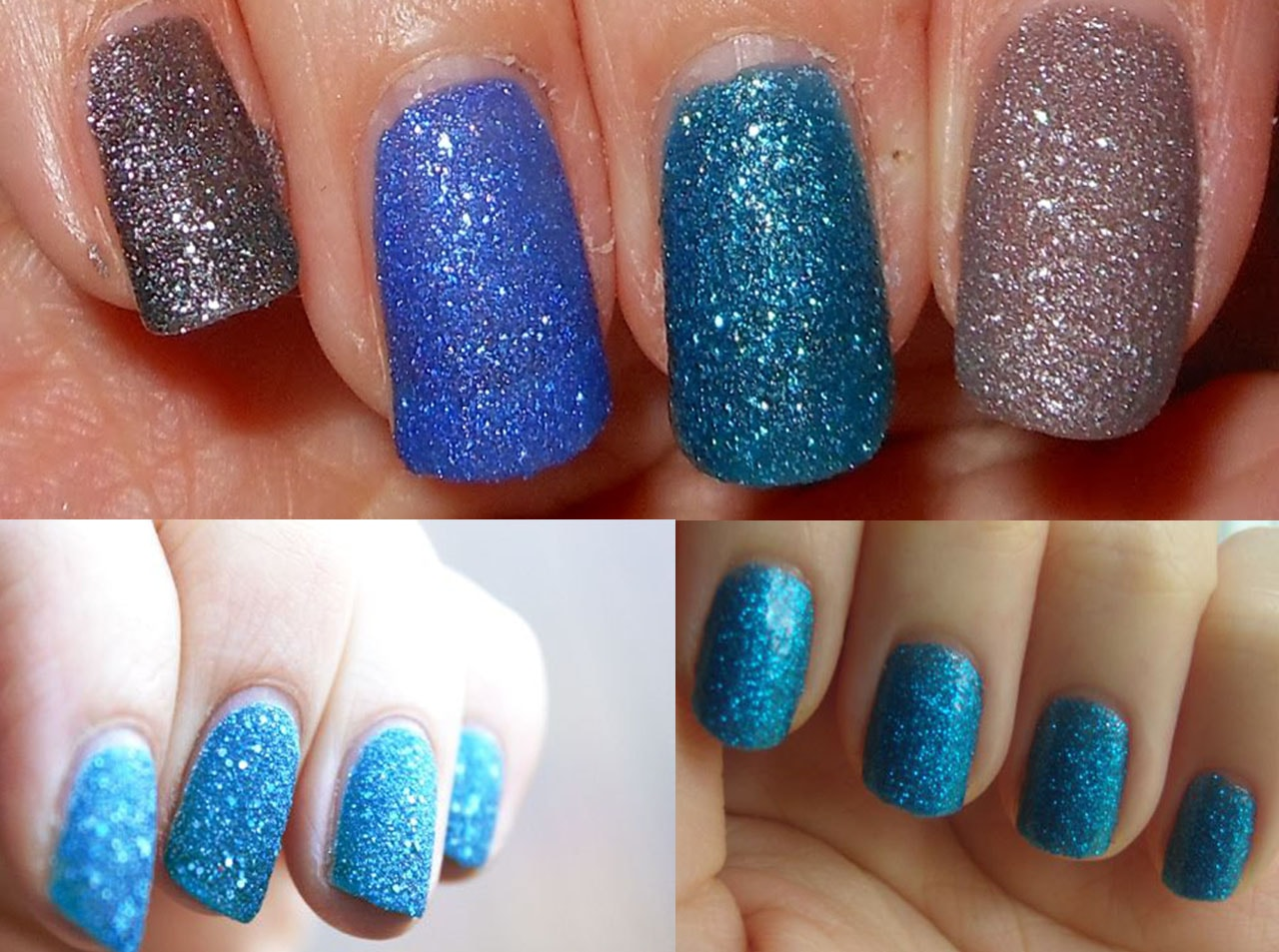 glitery-blue-mix-nail-art