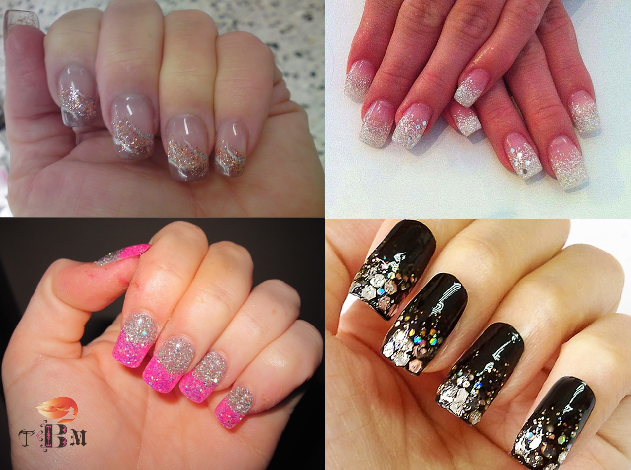 glittering-half-moon-with-different-nail-design
