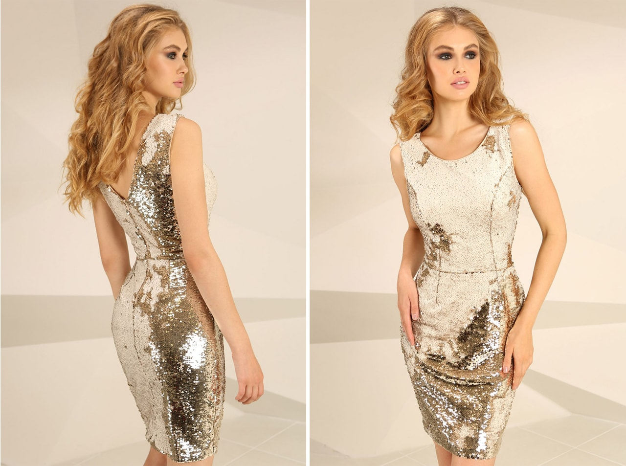 christmas-party-ware-gold-mini-dress