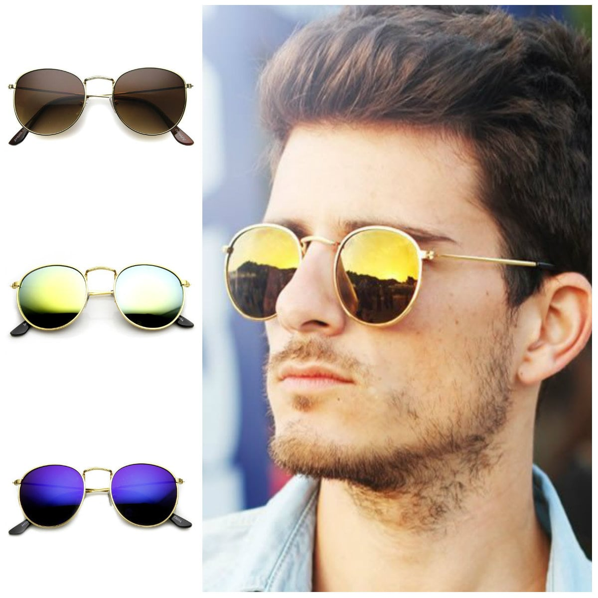round-flash-metal-sunglasses