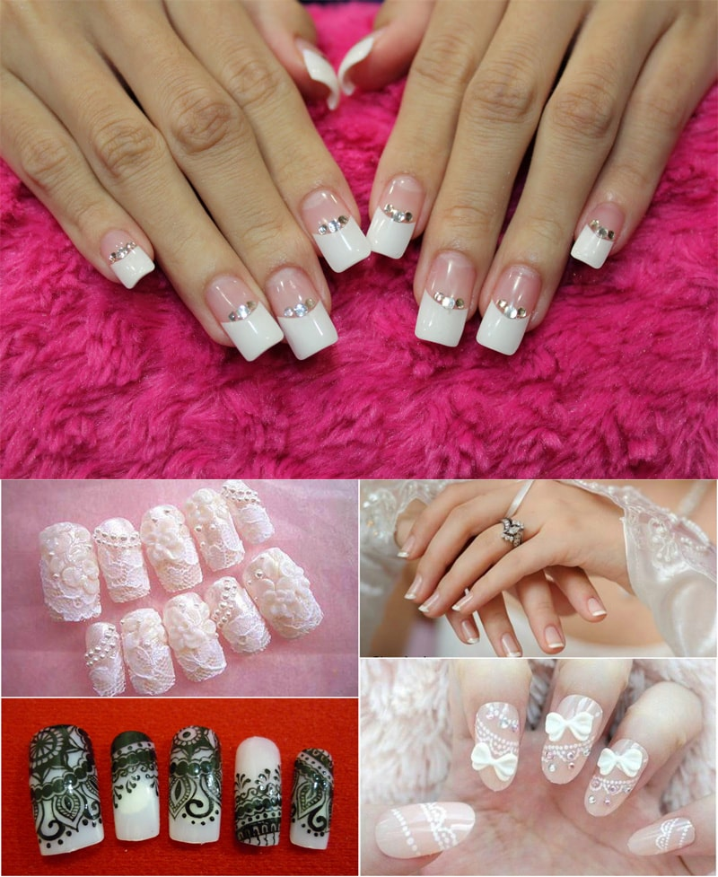 elegant-wedding-nail-art-designs