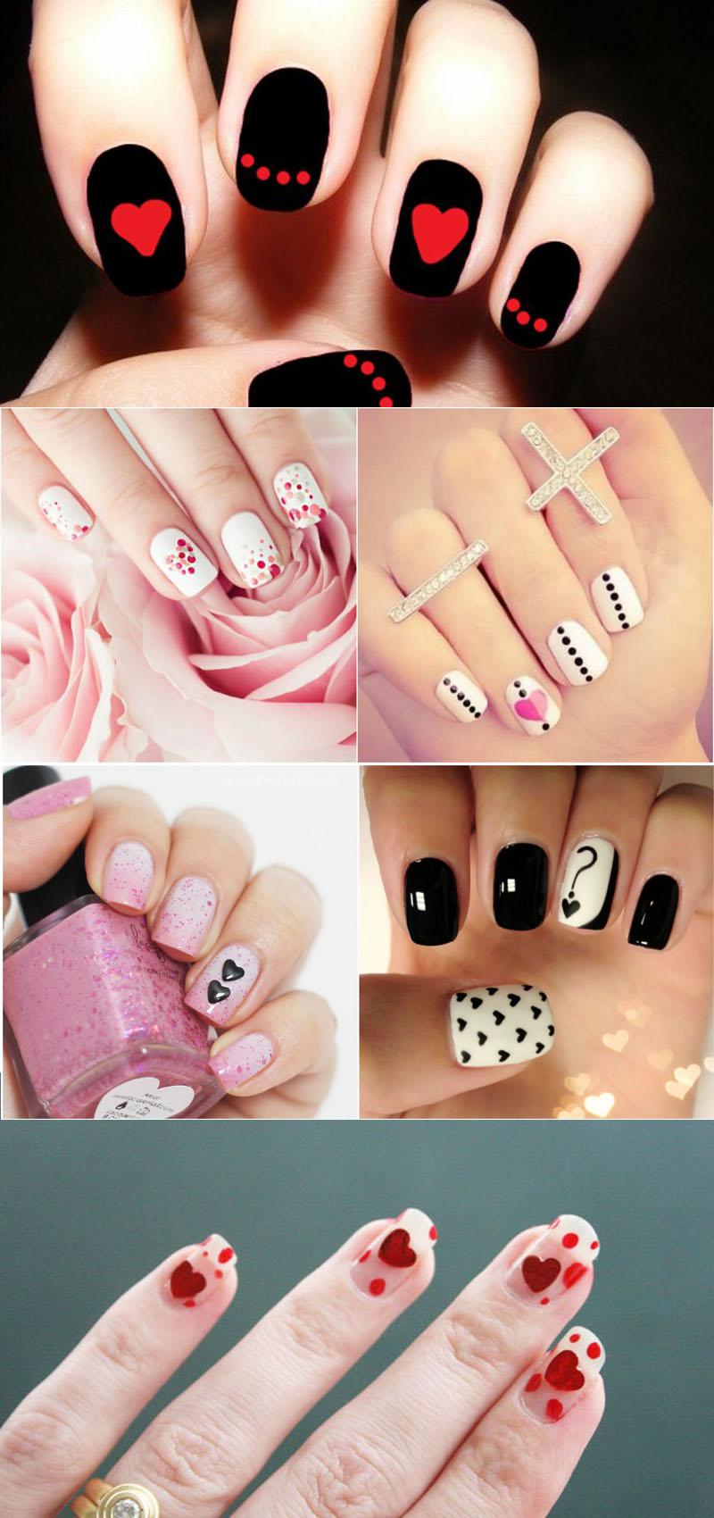 hearts-and-dots-nail-art
