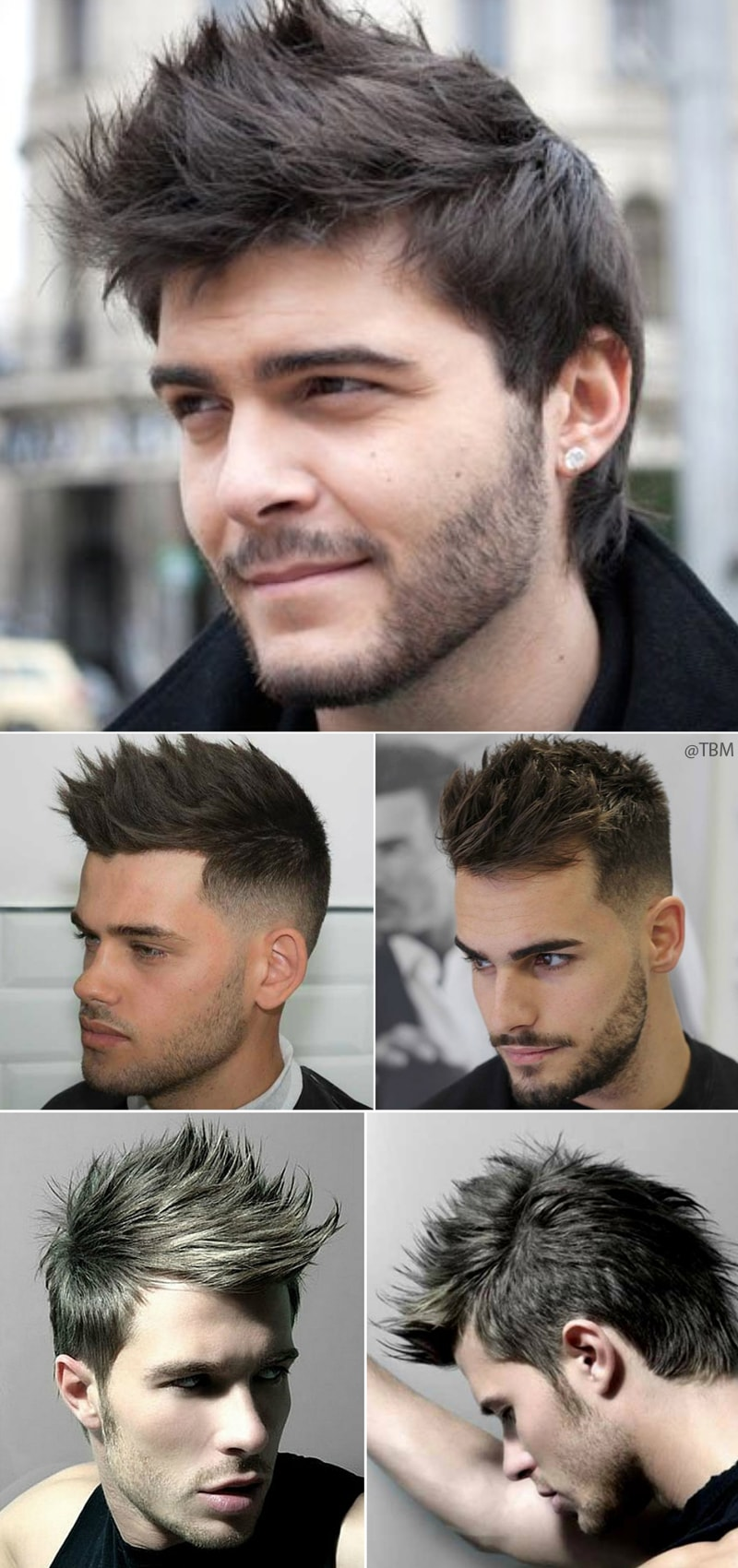 men's spiky hairstyles