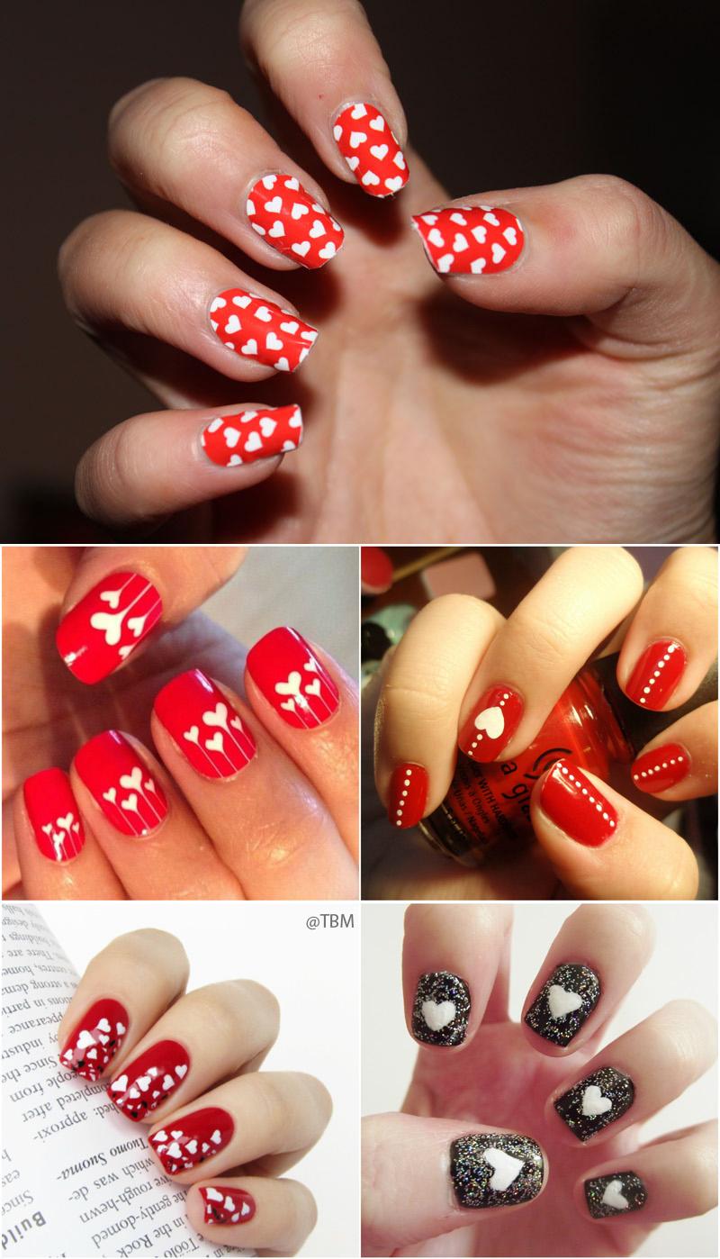 white-heart-nails