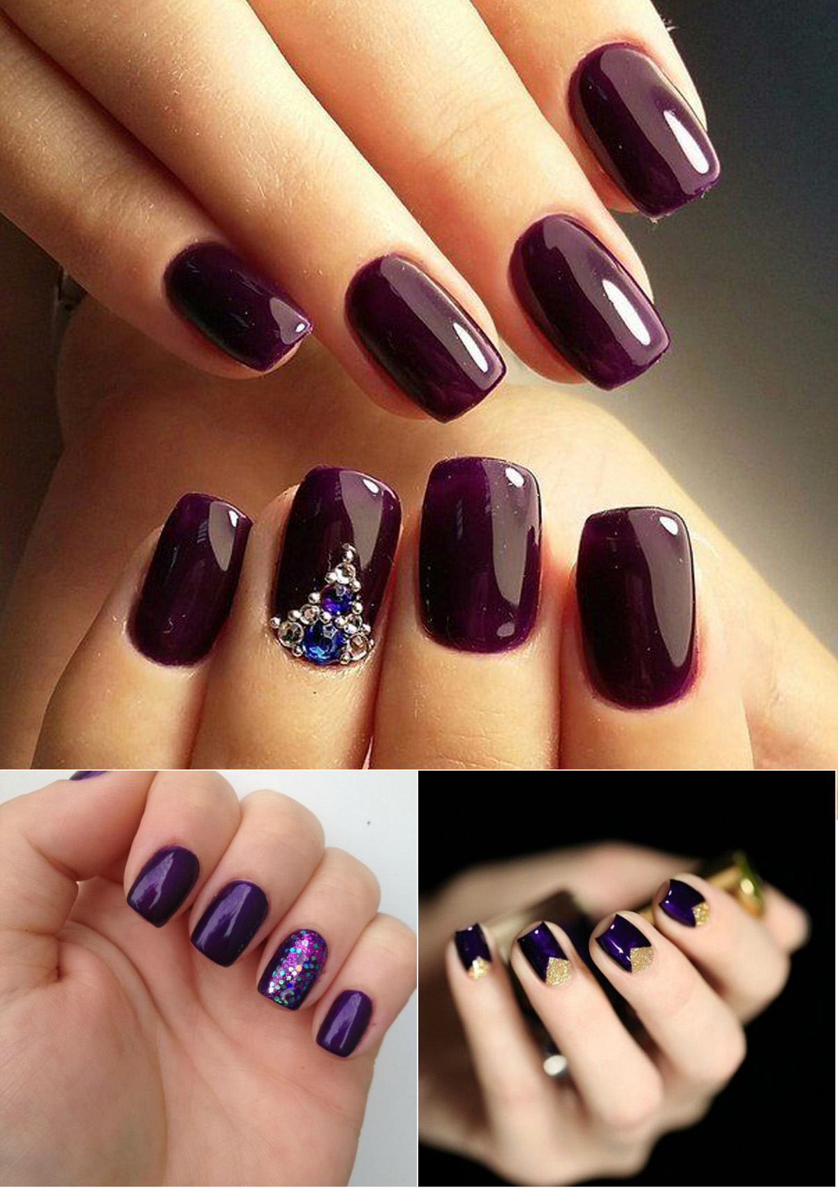 gorgeous-dark-purple-nail-design