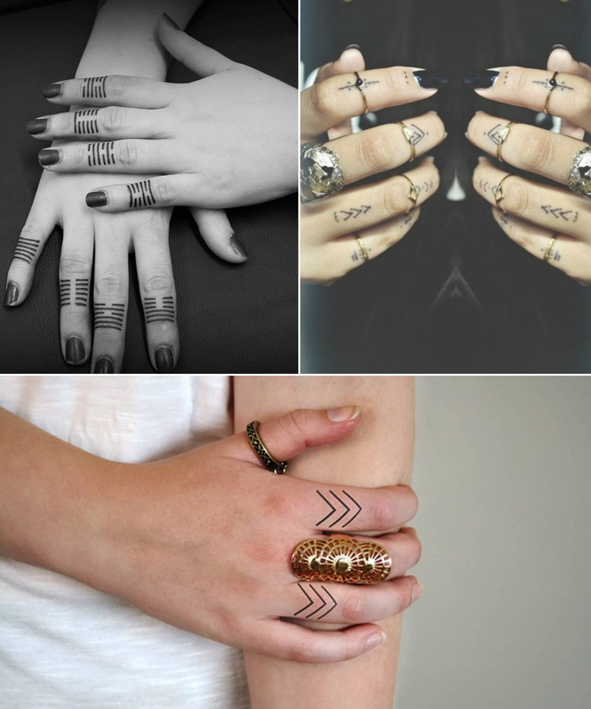lines-and-patterns-finger-tattoo