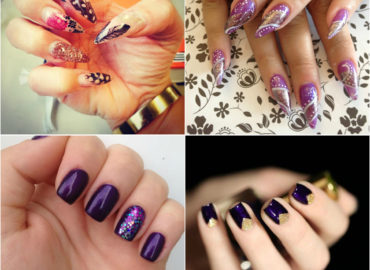 Try Fabulous Purple Nail Art Designs