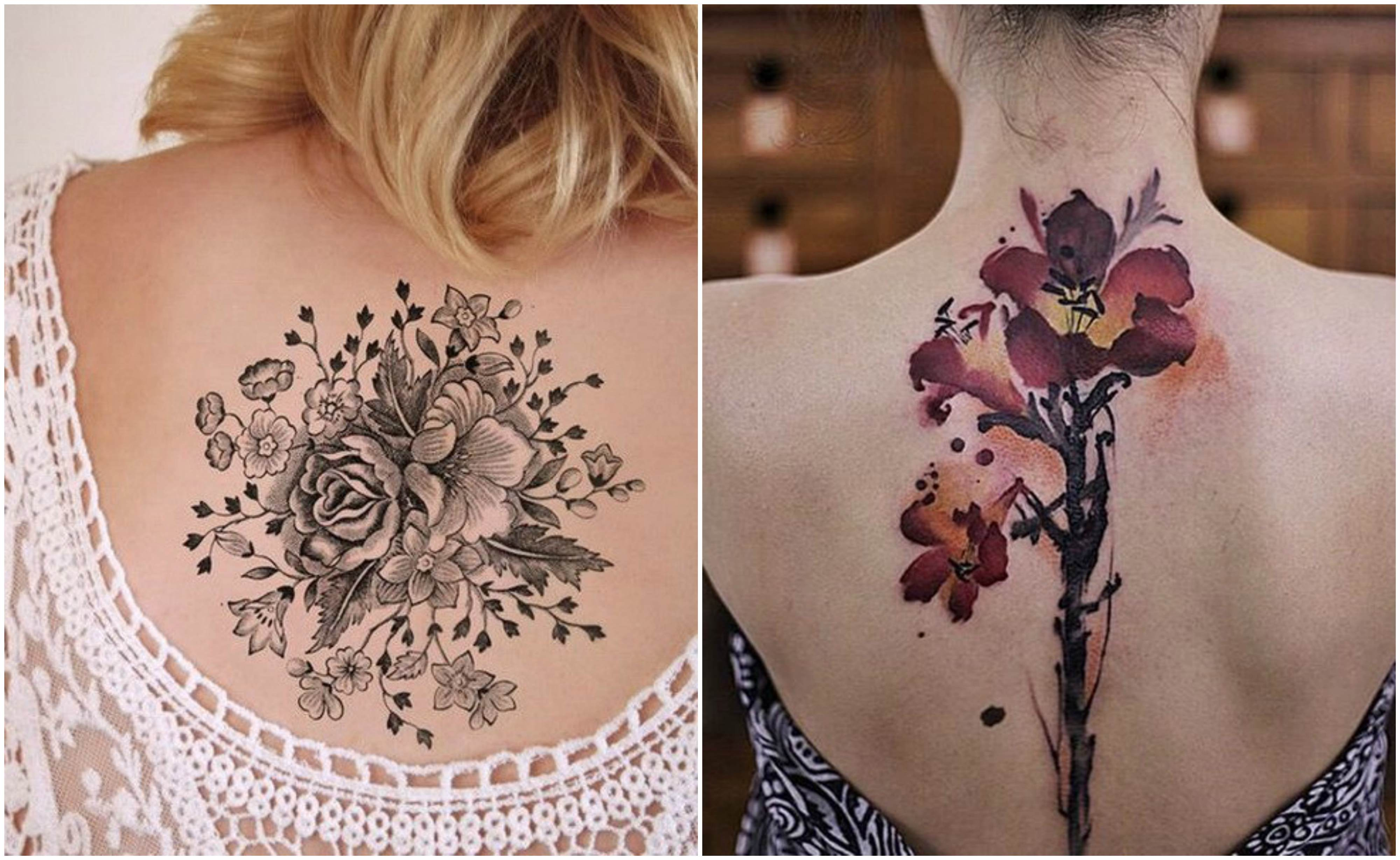 vintage-style-flower-design-tattoo