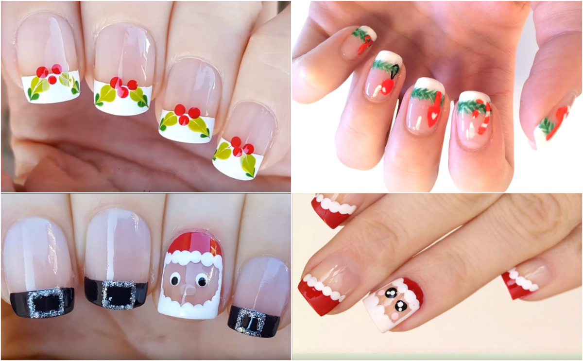 christmas-french-nail-art