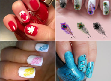 Feathery Nail Design that Looks Amazing