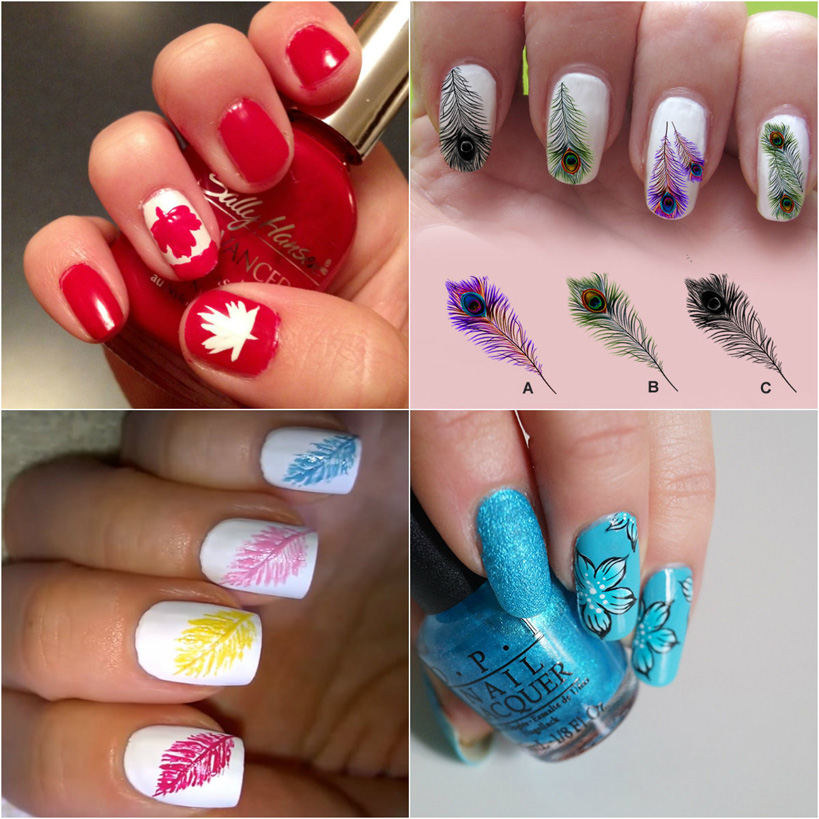 feathery-nail-art-collection