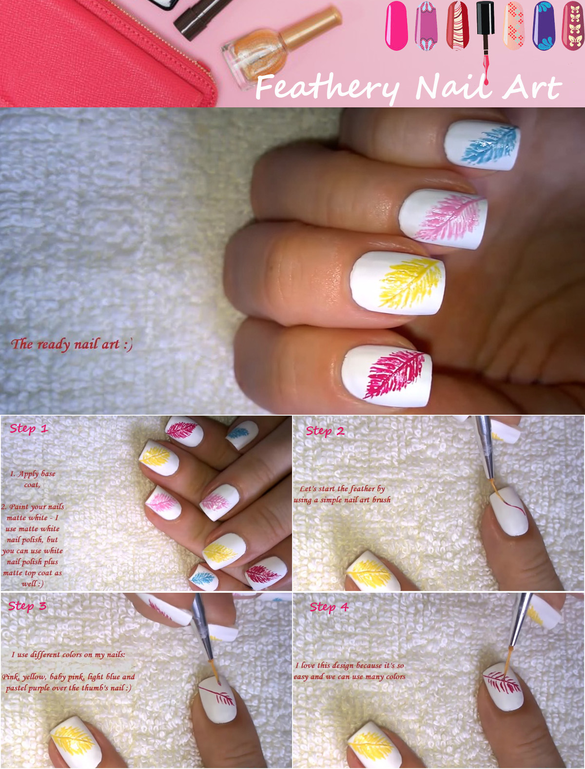 Feathery Nail Design That Looks Amazing Top Beauty Magazines