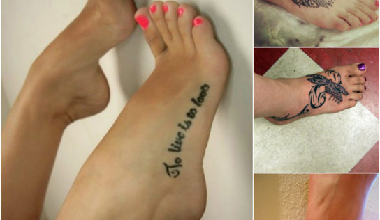 Get Beautiful Tattoo Design Inked on Your Foot