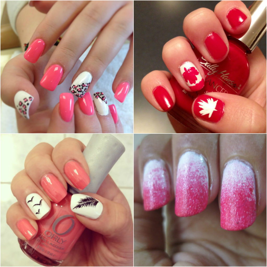 pink-and-white-feathery-nail-art