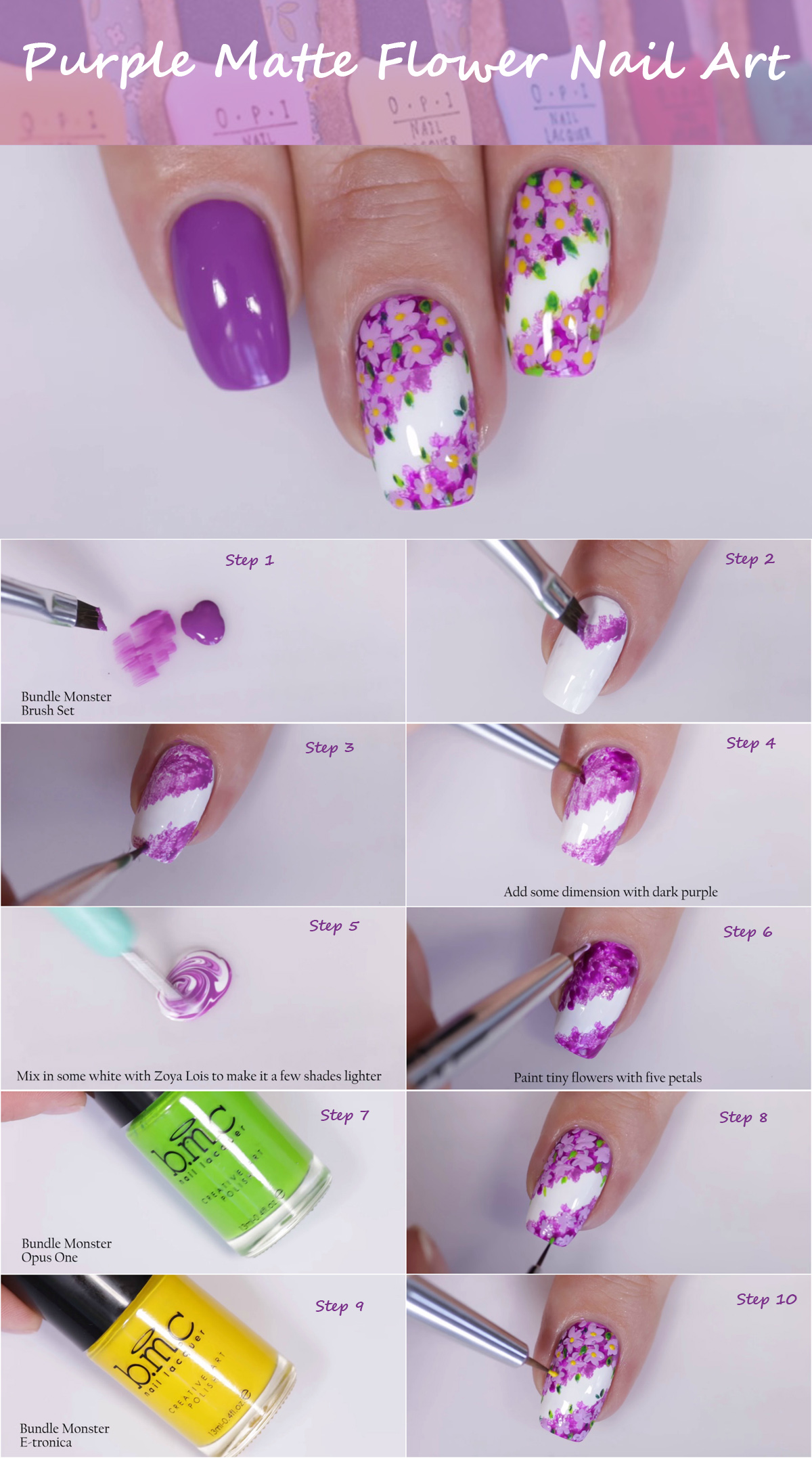 purple-matte-flower-nail-art