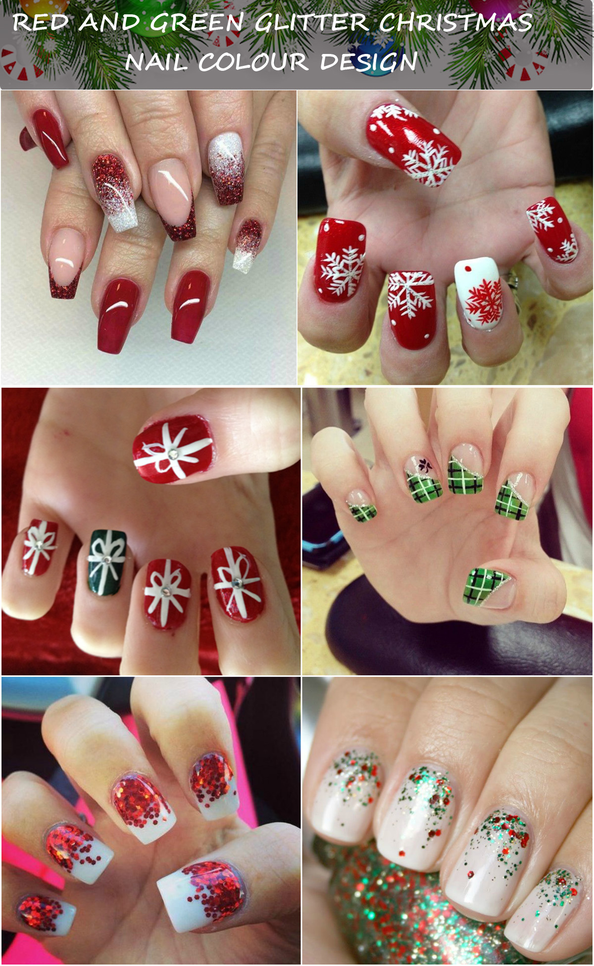 Some Amazing Nail Art Ideas For Christmas This Year , Top