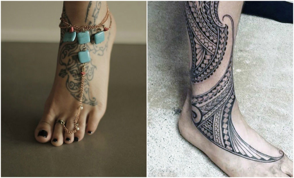 tribal-foot-tattoo