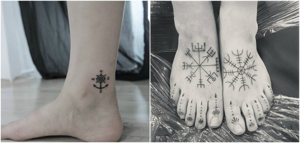 true-north-foot-tattoo-design