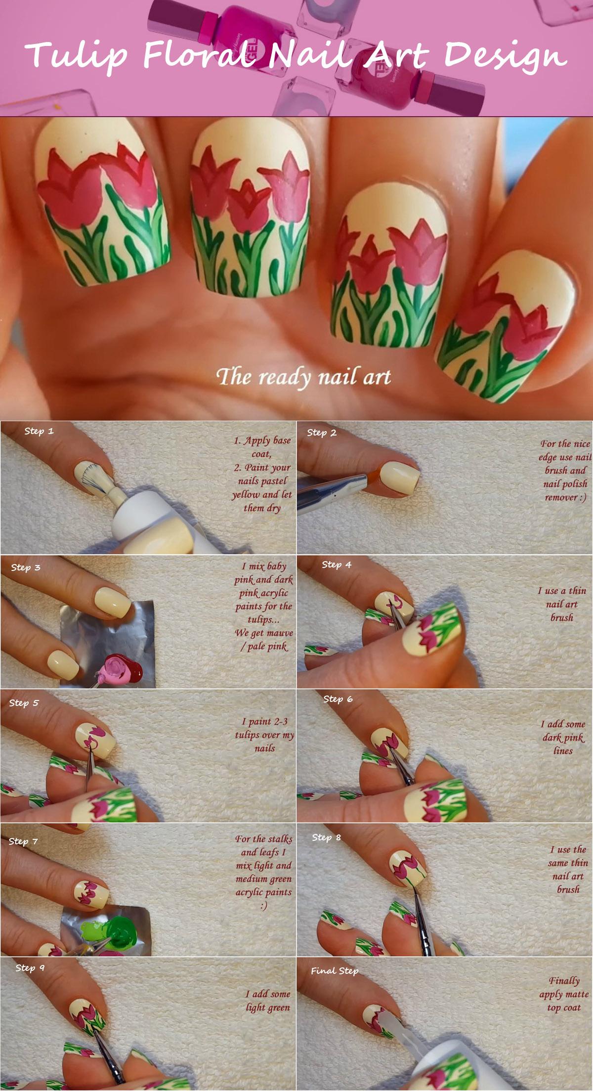 tulip-floral-nail-art-design