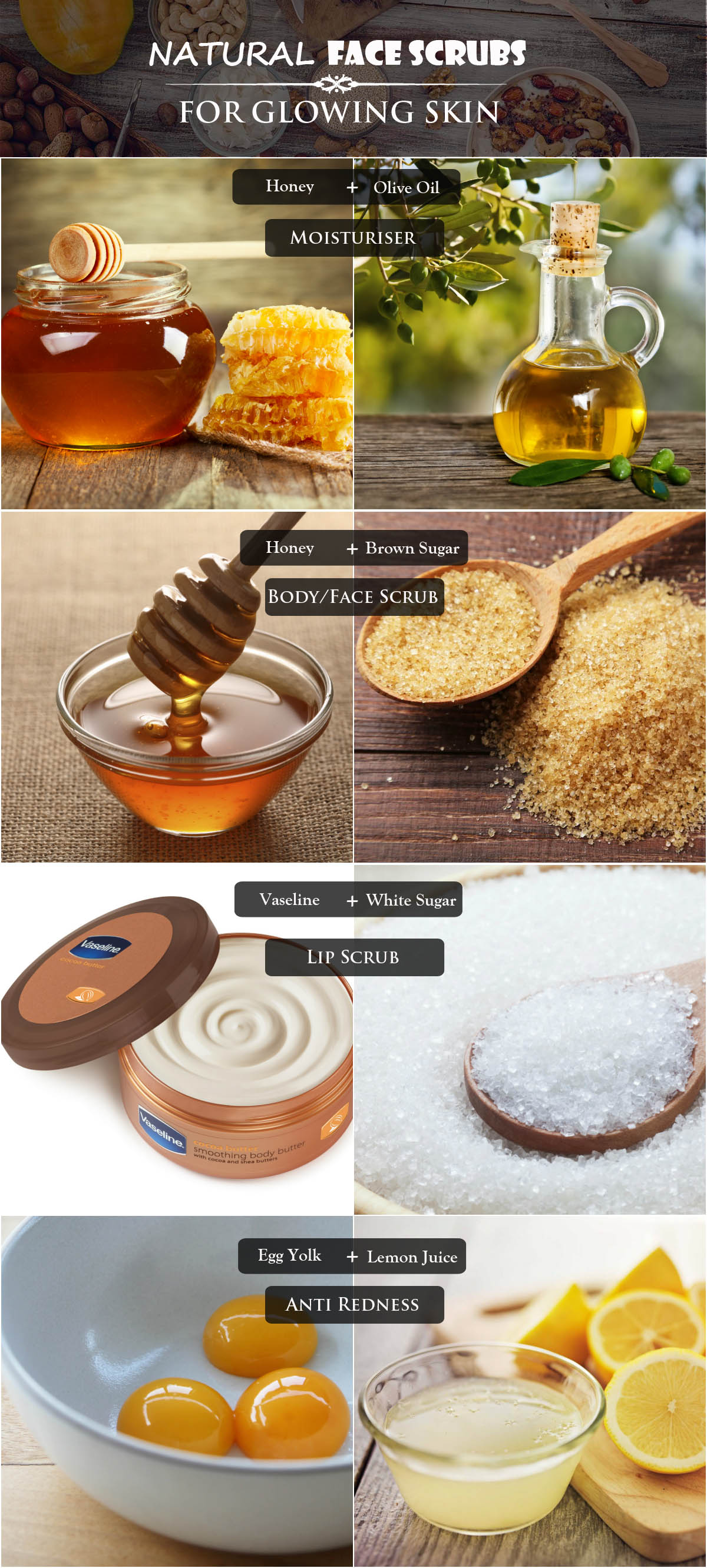 natural face scrubs