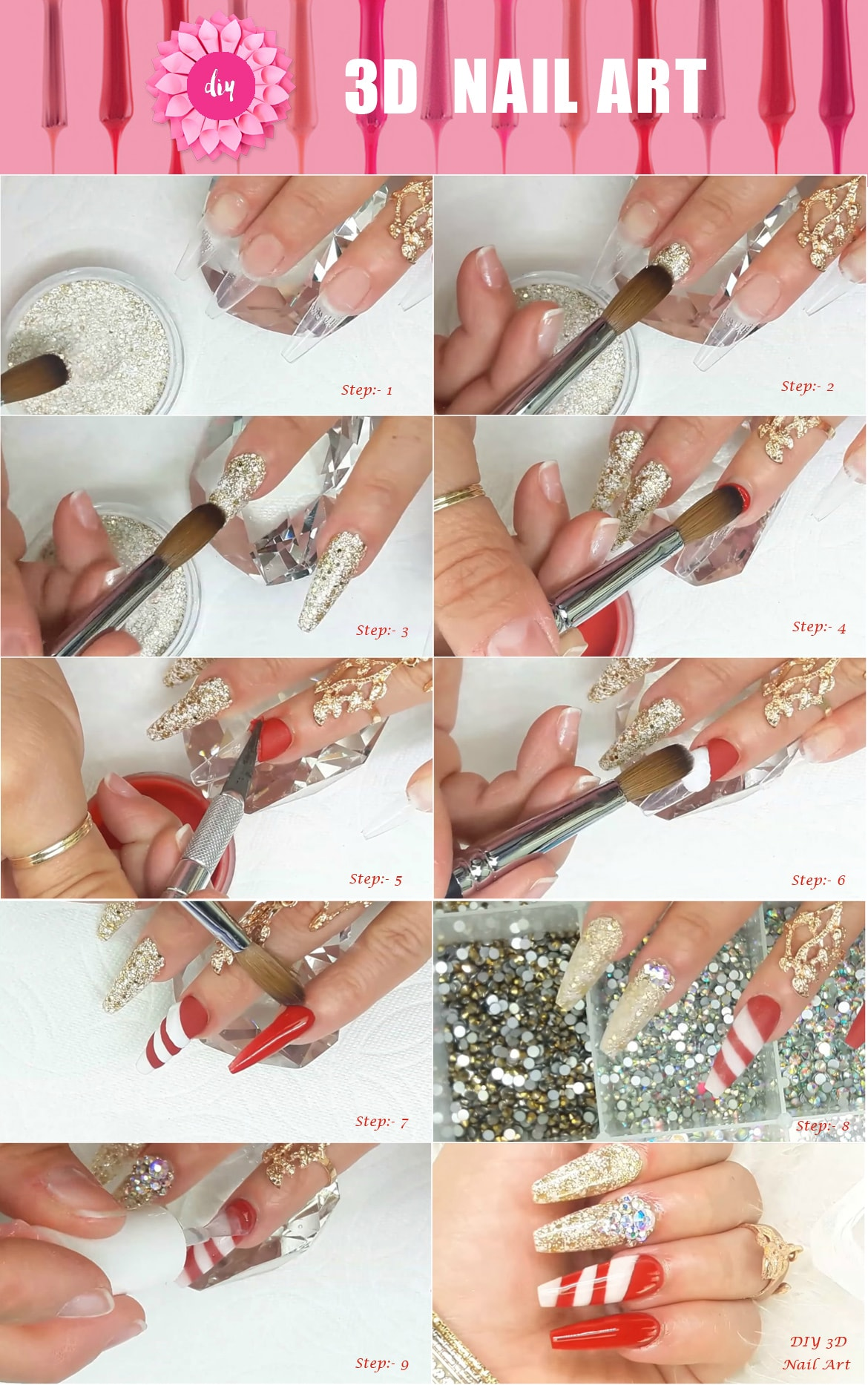 Diy 3d nail art for Diy 3d art