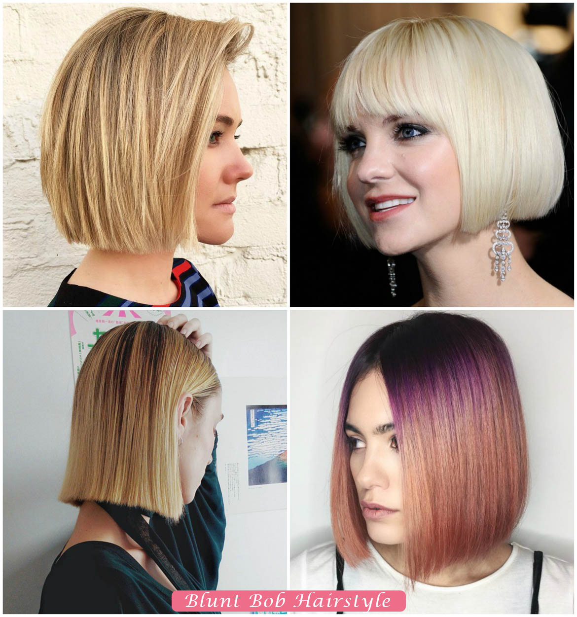Blunt Bob Hairstyle | Bob Hairstyles for Women
