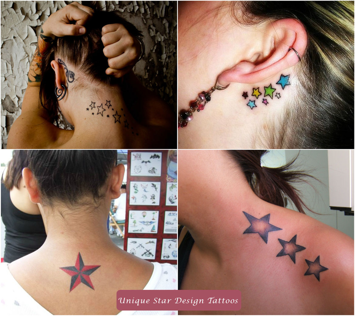 Unique Star Design Tattoos