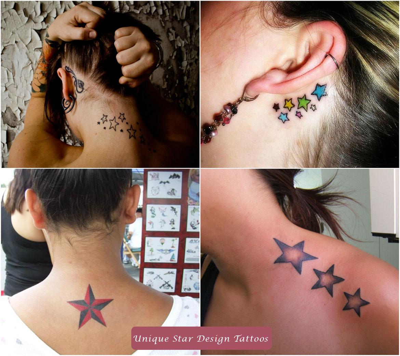 Unique Star Design Tattoos