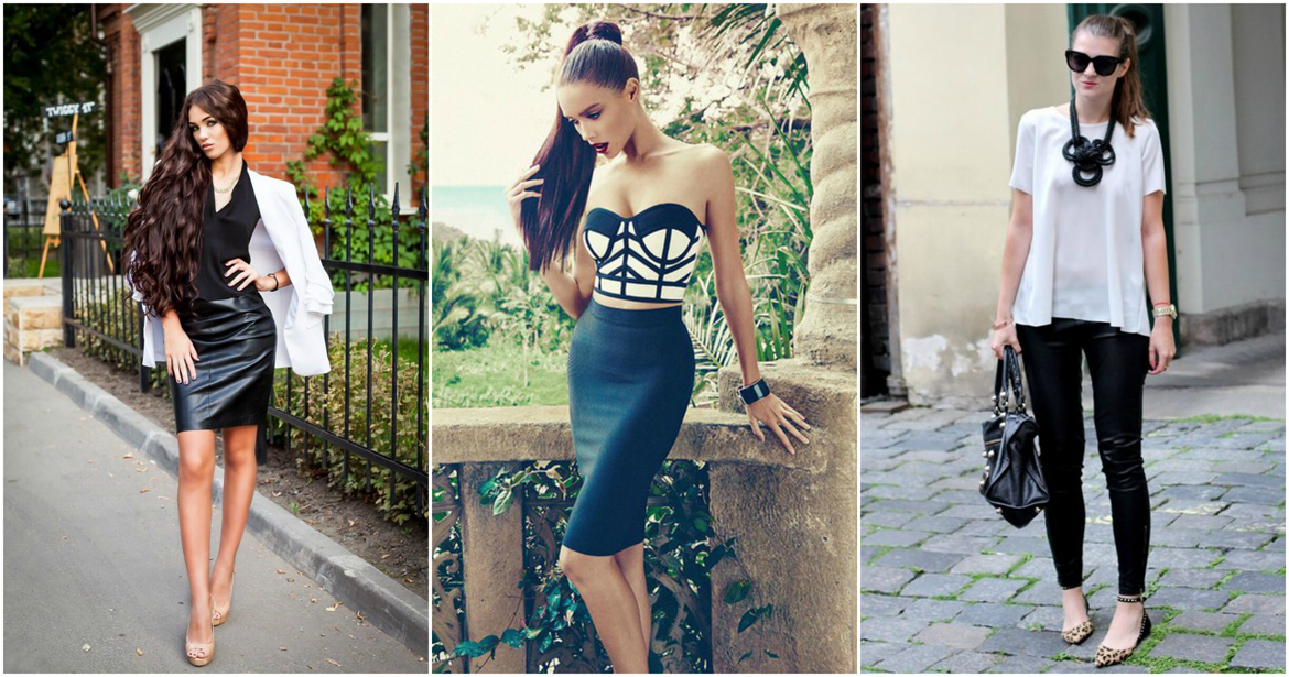 black and white Perfect combination for all kinds of dresses