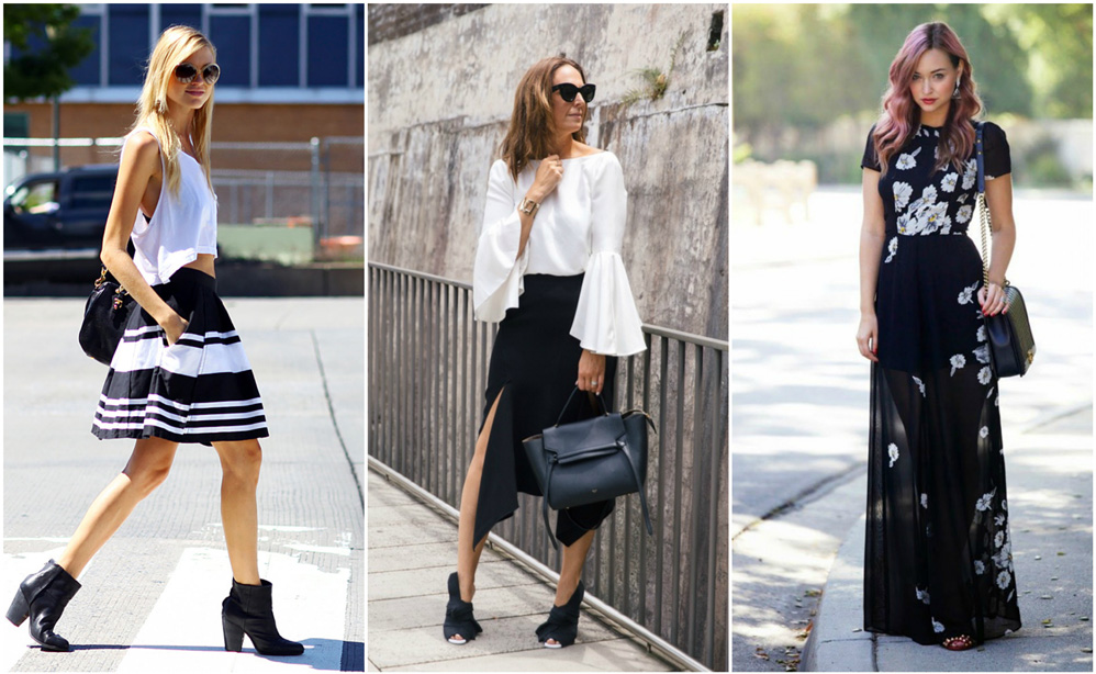 black and white summer outfits