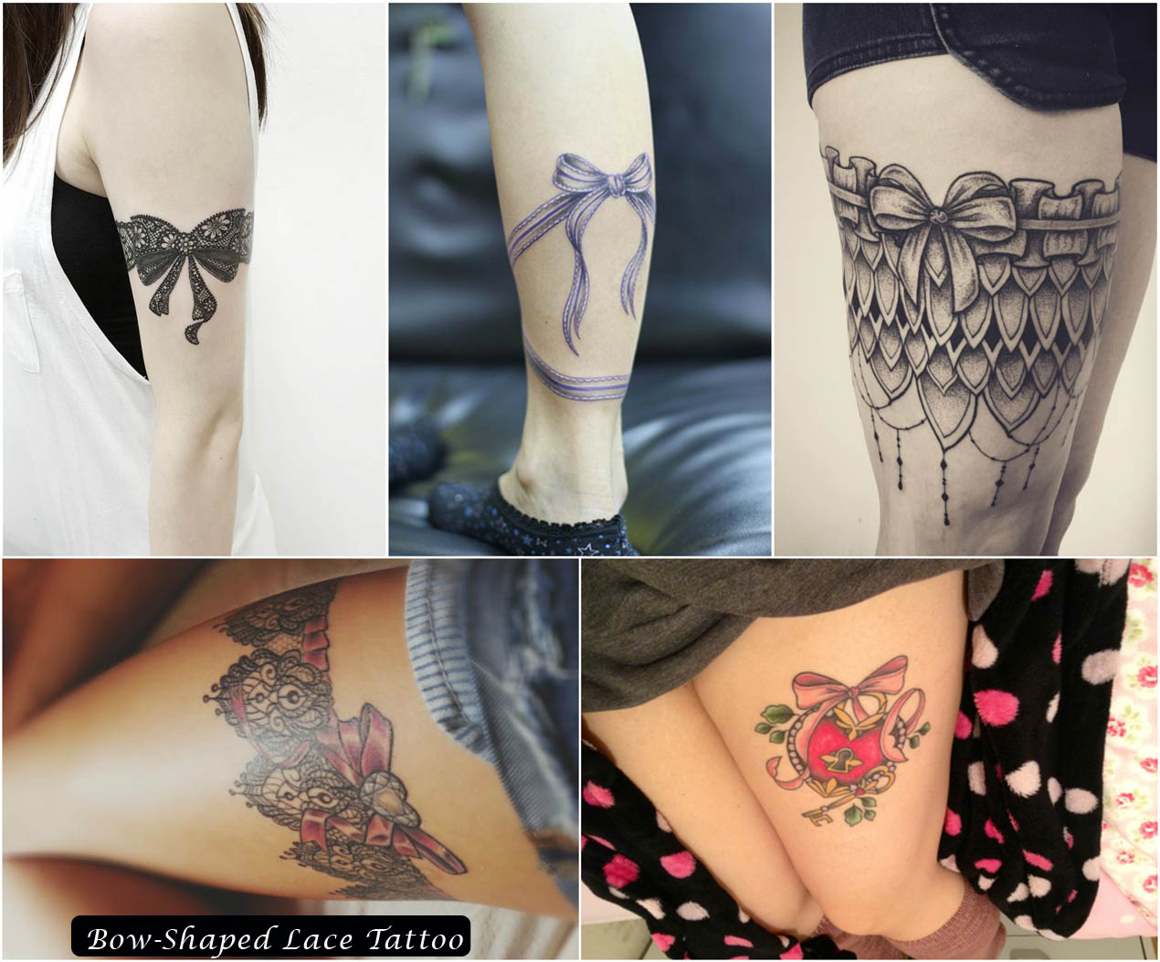 Bow-Shaped Lace Tattoo