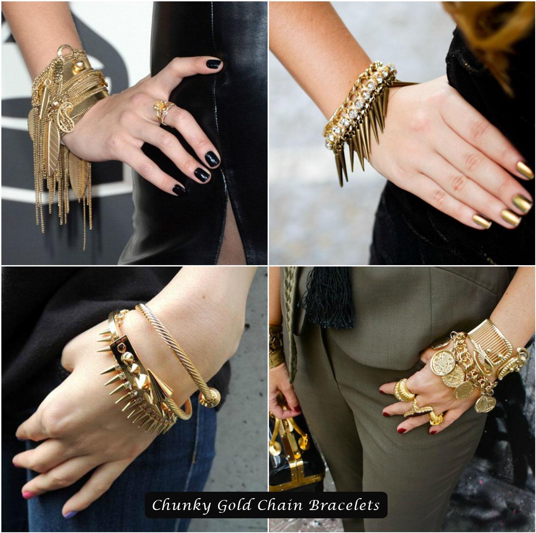 Chunky Gold Chain Bracelets
