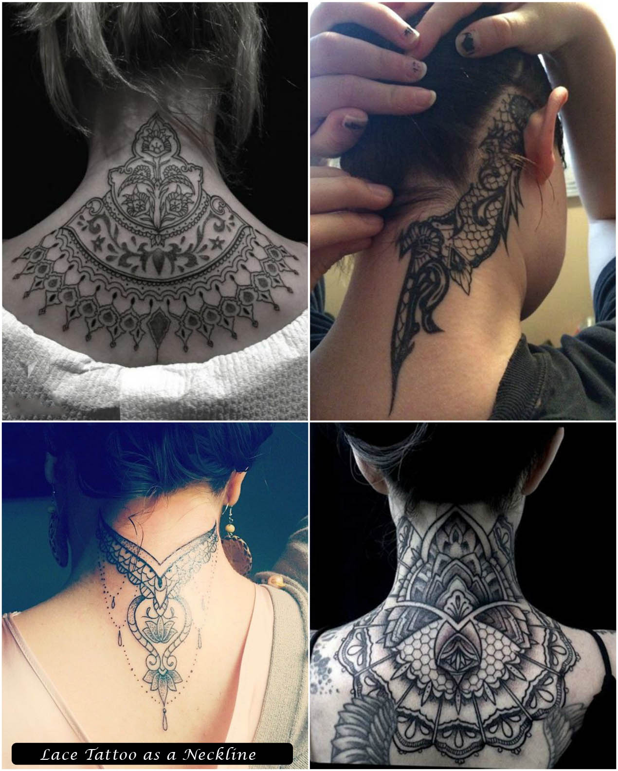 Lace Tattoo as a Neckline