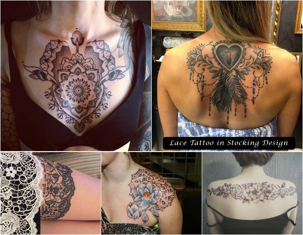 Lace Tattoo in Stocking Design