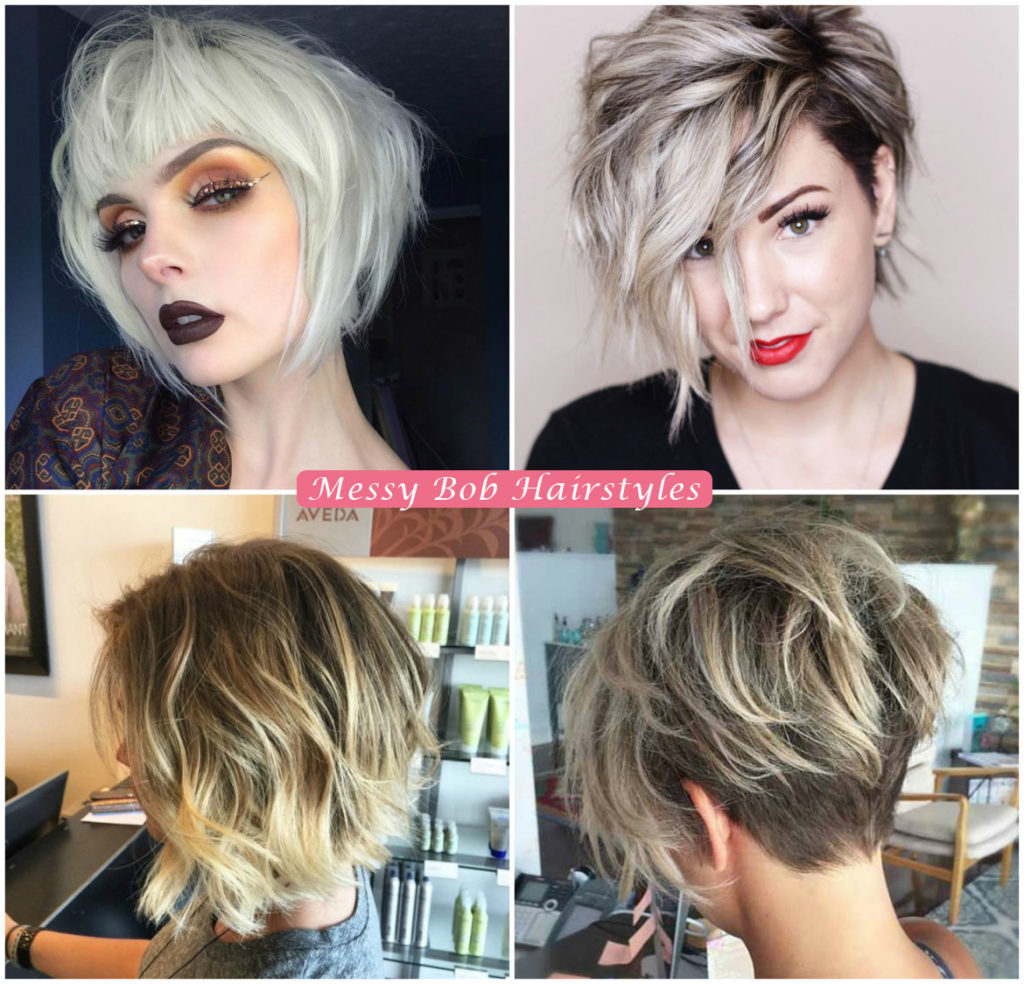Messy Bob Hair Cut | Bob Hairstyles for Women