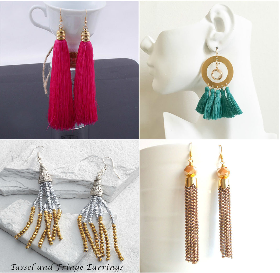 Tassel and Fringe Earrings