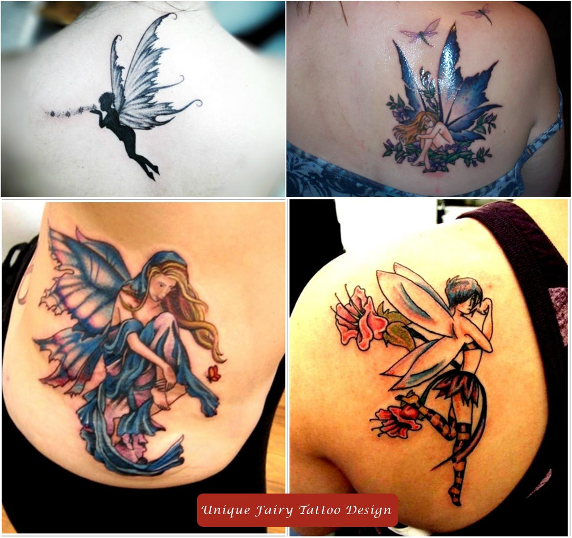 Unique Fairy Tattoo Design