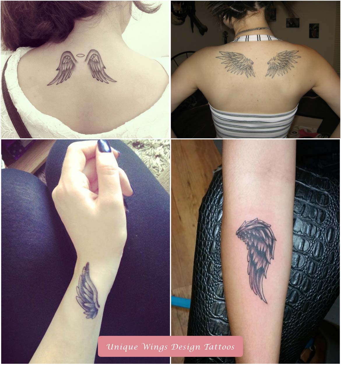 Unique Wings Design Tattoos