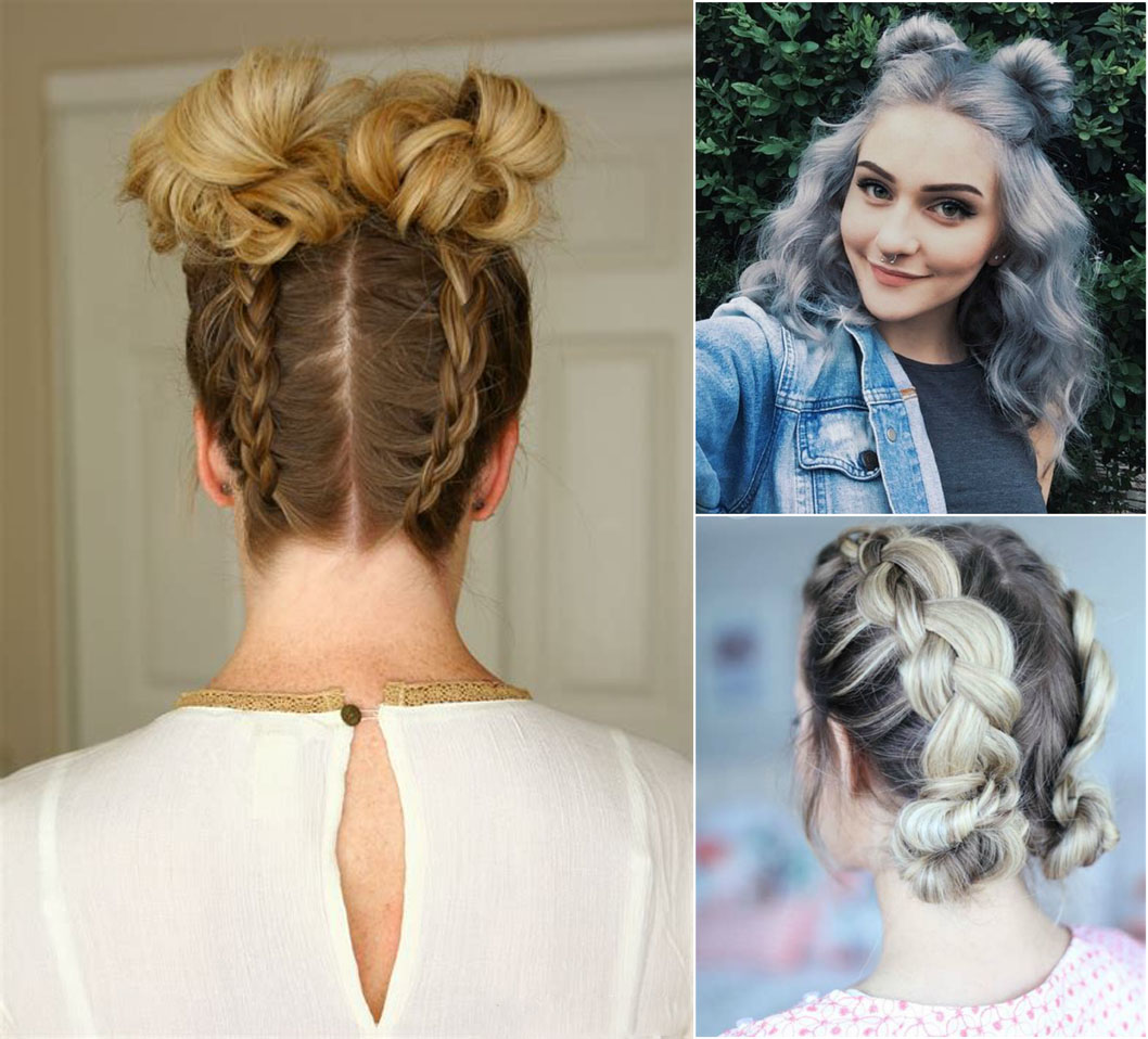 Baby buns hairstyle | latest braided bun hairstyle