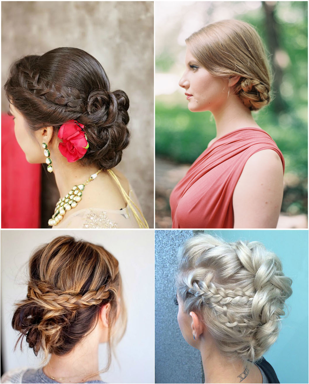 Breathy braided bun   latest braided bun hairstyle