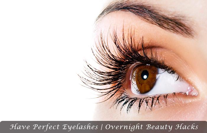 Have Perfect Eyelashes | Overnight Beauty Hacks