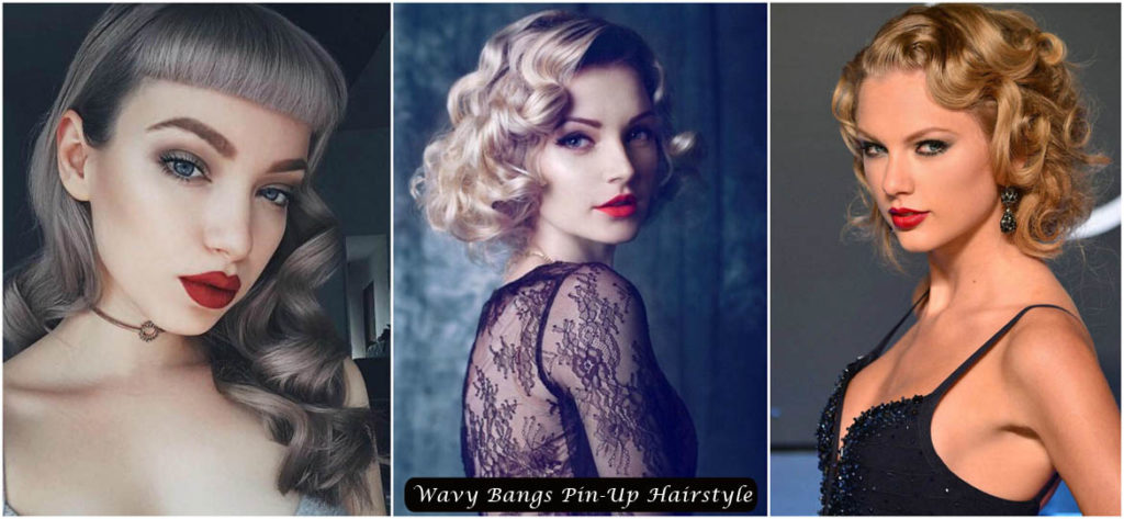 Wavy Bangs Pin-Up hairstyle | Pin-Up Hairstyles