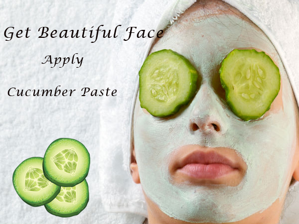 Get Beautiful Face Apply Cucumber Paste