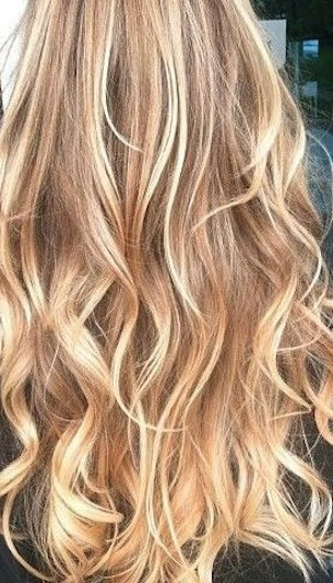 Buttery blonde hair color