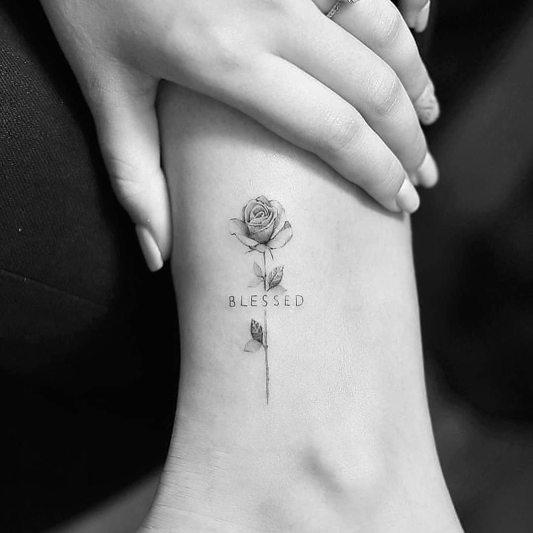 Rose tattoo with messages - rose tattoo design ideas