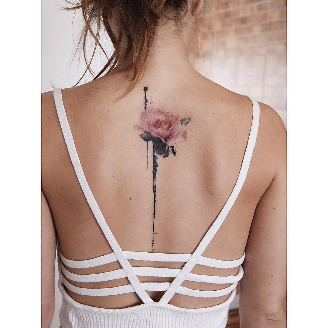 Single red rose tattoo - rose tattoo design ideas