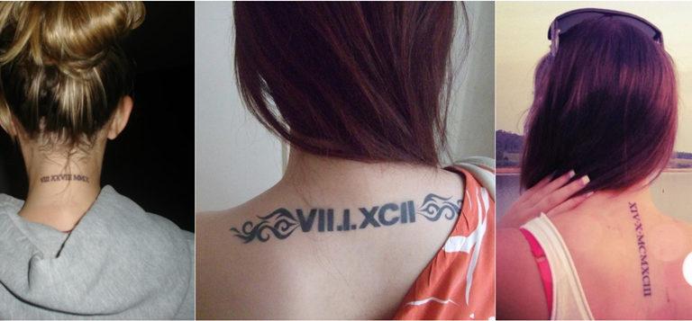 Roman Numerals Tattoo Designs