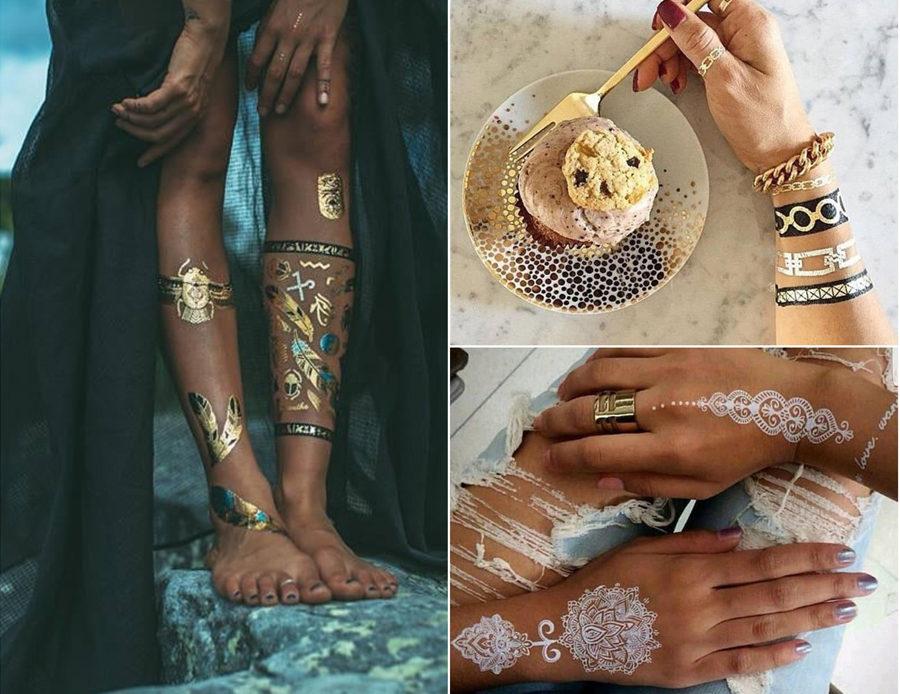 Metallic Tattoo Designs