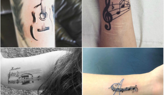15 Awesome Music Tattoo Design Ideas