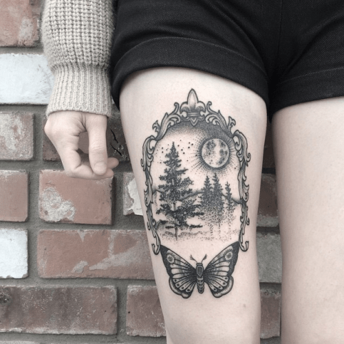 Thigh Tattoo Design Ideas | Best Thigh tattoos ideas